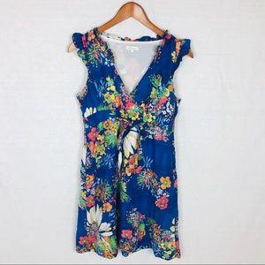 Shoshanna silk blend dress floral 8